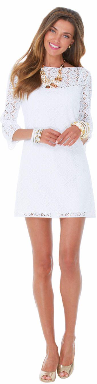 LILLY PULITZER TOPANGA vestido de encaje TUNICADO