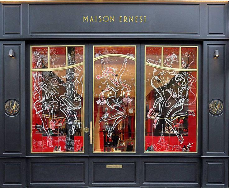 """Les Parisiennes d'Antoine Kruk pour les vitrines de Noël de Maison Ernest  """"Les Parisiennes"""" of Antoine Kruk for the christmas windows of Maison Ernest  www.maisonernest.com"""
