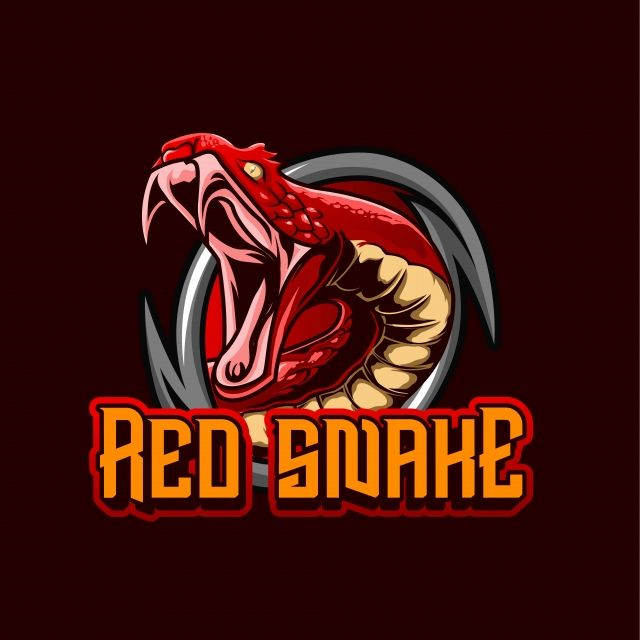The Red Snake Mascot Logo Gaming With Animal Illustration Logo Concept Logo Concept Game Logo Snake Logo