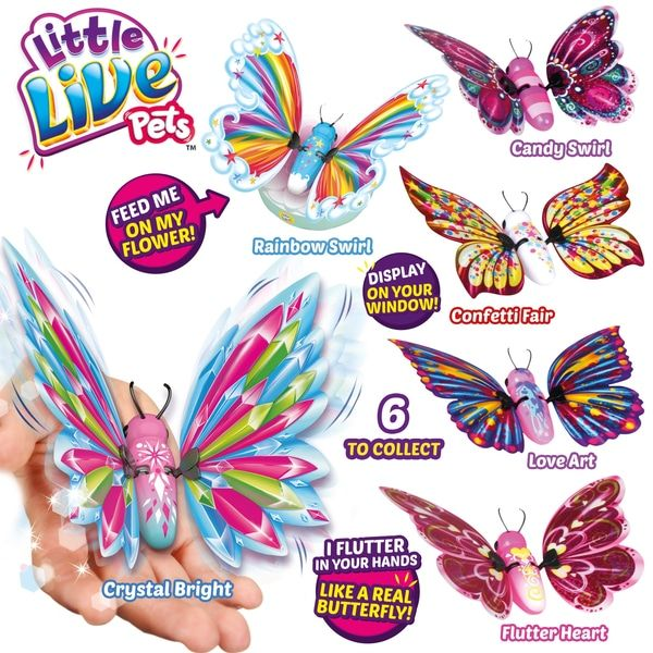 Little Live Pets Butterfly Series 3 Assorted Smyths Toys Little Live Pets Pets Wings