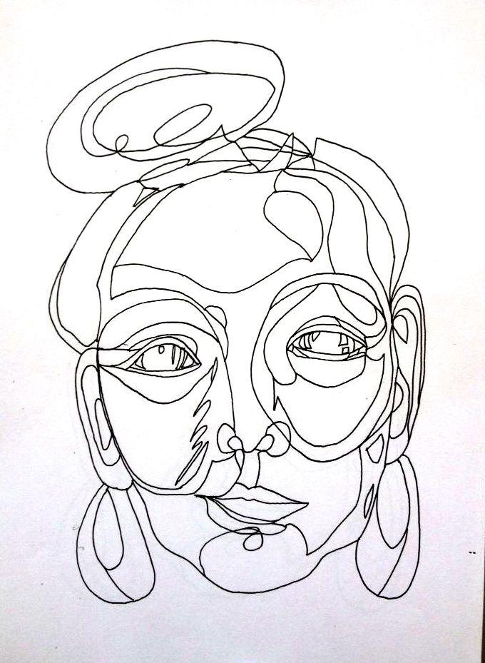 Line drawing by Meeri Waara