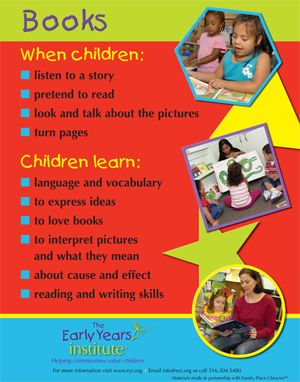 Books Poster. For more Play pins visit: http://pinterest.com/kinderooacademy/learning-through-play/ ≈ ≈