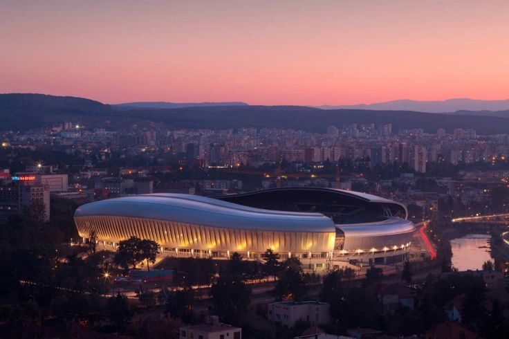 Cluj Arena is a multi-use stadium in Cluj-Napoca, Romania. http://www.archdaily.com/210638/cluj-arena-dico-si-tiganas/