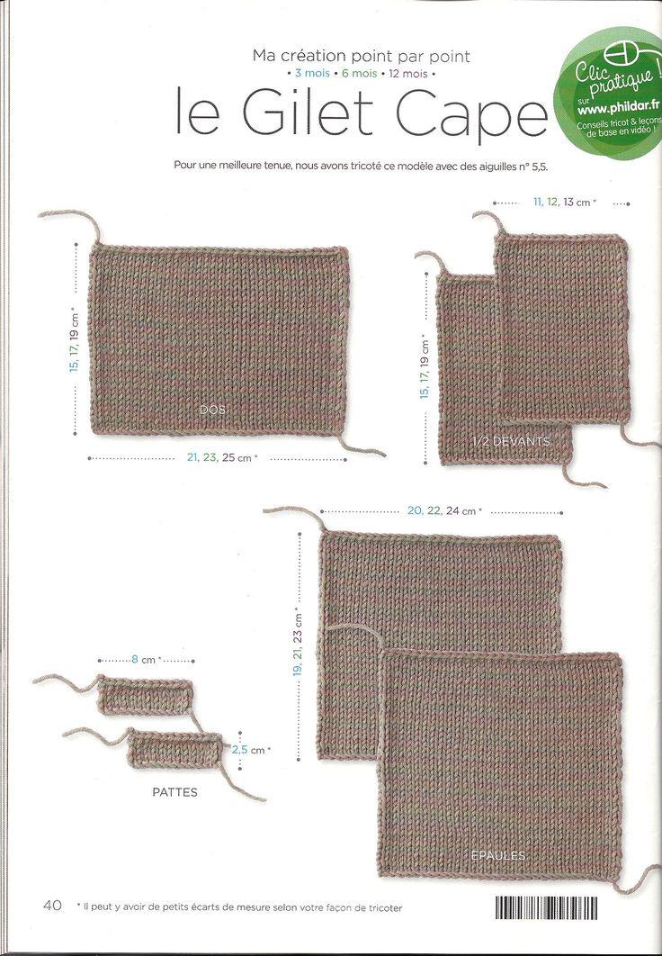 Si fa con i ferri del 5,5 misure 3-6-12 mesi DIETRO si montano 47m(52-55) e si lavora m rasata per 15 cm(17-19) poi si chiude DAVANTI farne 2 montare 18m(19-21) e lav a m rasata fino a 15 cm(17-19…