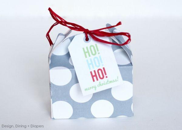 $1.00 Christmas Favors by Design, Dining + Diapers (instructions for silhouette)