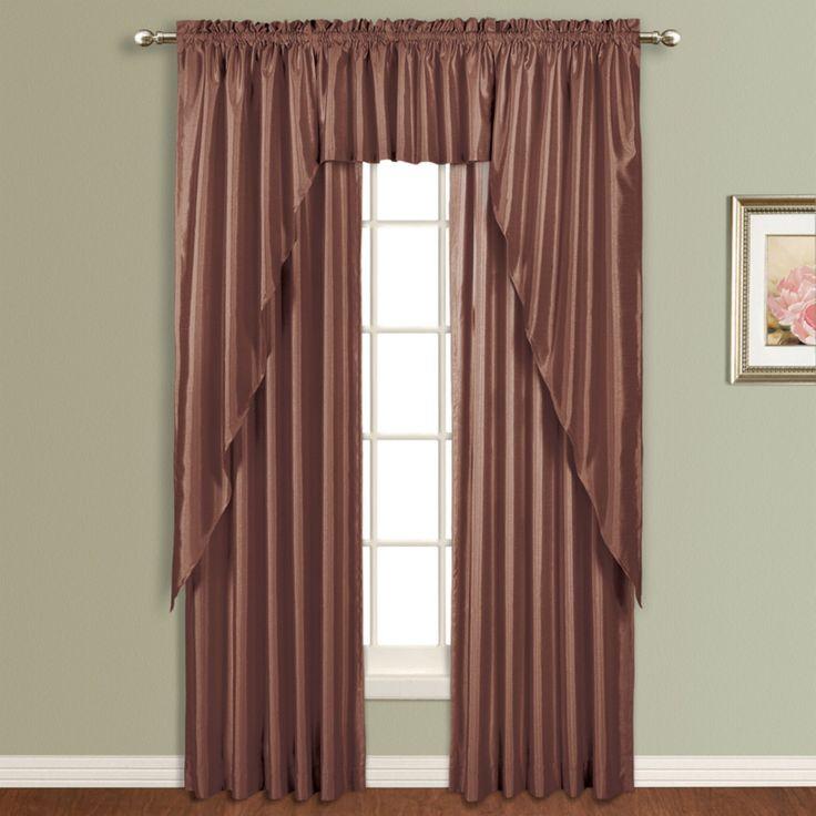 United Curtain Anna Lined Faux Silk Curtain Panel - AN63WH