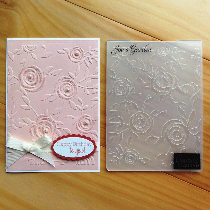 Couture Creations Embossing Folder Rose Garden Roses Joe's Garden