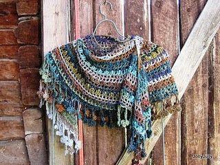 crochet shawl - love the colours