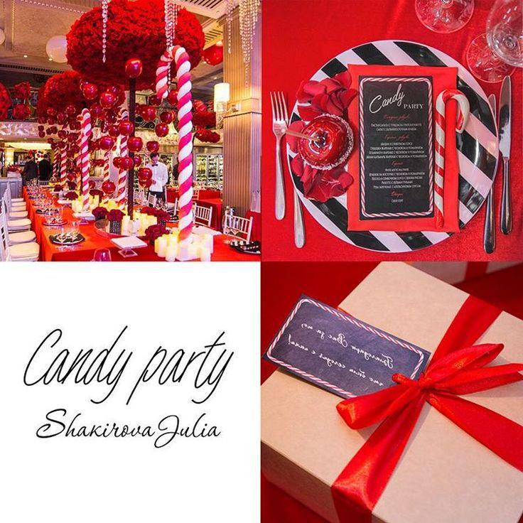 «Акценты нашей Candy Party: карамельные палочки, засахаренные яблочки; рождественские красно-белые цвета. Все было продумано до мелочей! Даша, как…»