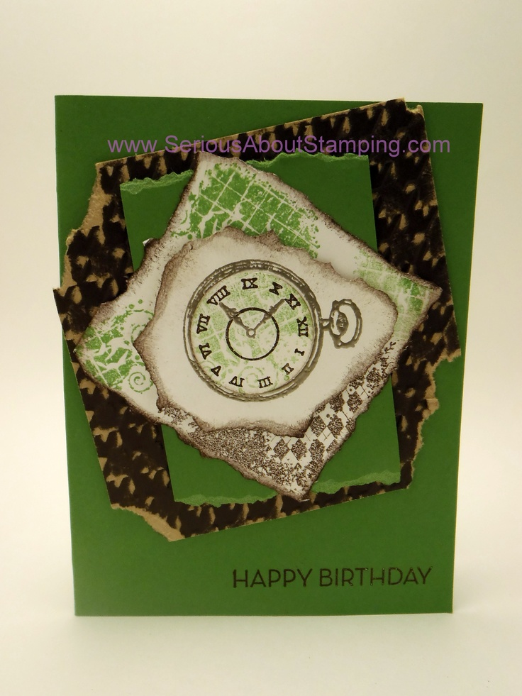 Manly birthday card by Charmaine Clockworks, Core'dinations