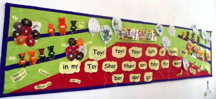 Toy Shop theme crafts made by Rainbows (4-5y) @AcornsNursery