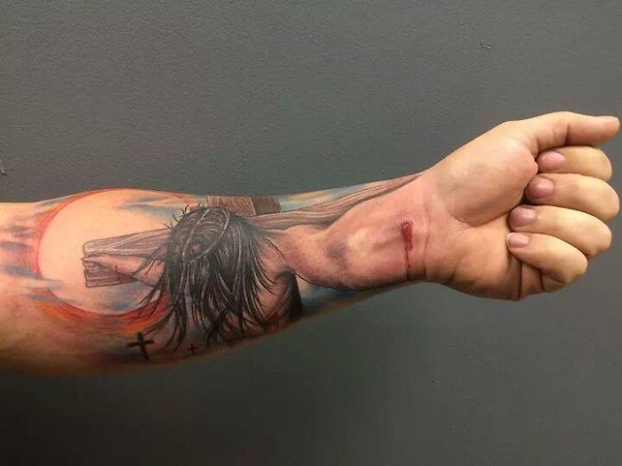 Resultado de imagen para tatuaje de jesus