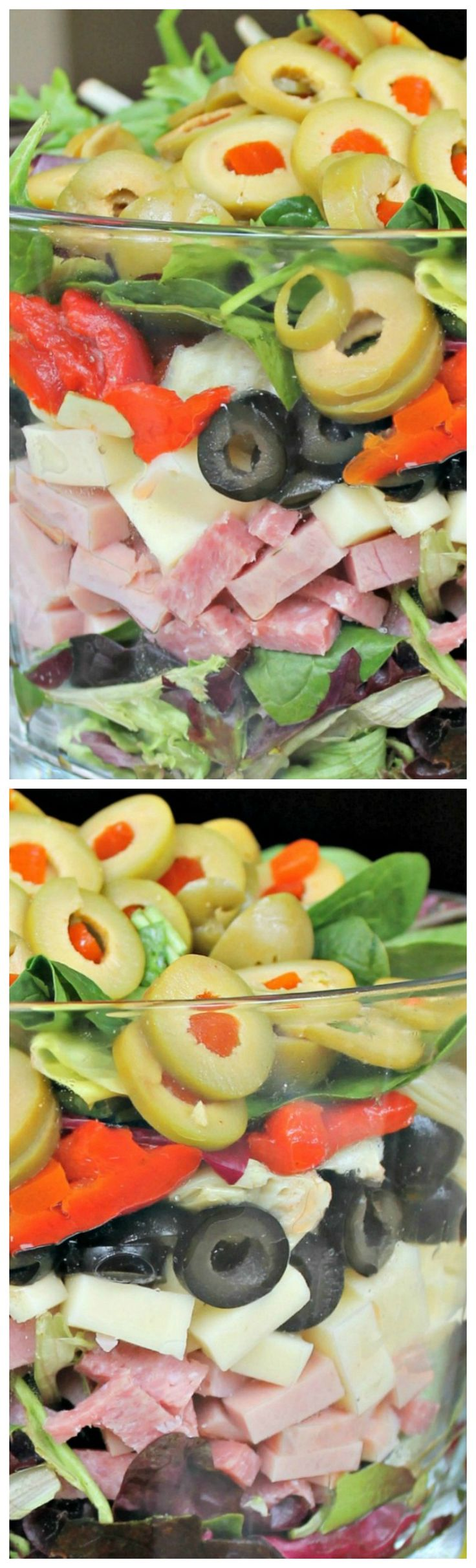 Muffuletta Salad ~ After just a little chopping and a super quick vinaigrette, you can put this on the table in a flash.