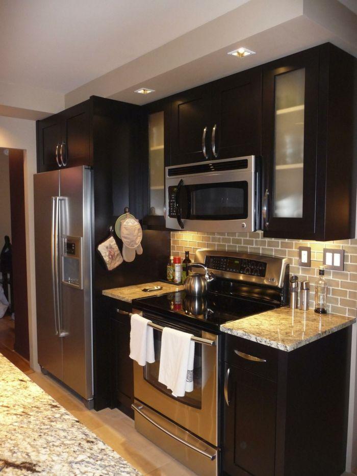 Kleine Küchen Einrichten Kleine Räume Stellen Die
