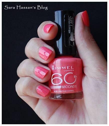 60 Seconds es un esmalte de uñas que seca tan rápido que puedes cambiar de color