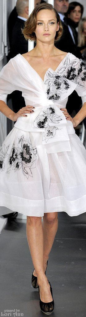 Christian Dior ~ Couture Cocktail Dress, White