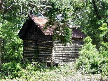 Berrien County GA Log Corn Crib Primitive Vernacular Architecture Agriculture Picture Image Photo Copyright Brian Brown Vanishing South Georgia USA 2009