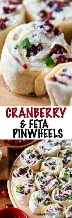 Cranberry Feta Pinwh Cranberry Feta Pinwheels are the perfect...  Cranberry Feta Pinwh Cranberry Feta Pinwheels are the perfect make ahead holiday snack or appetizer. A creamy filling with feta cheese and sweet dried cranberries is wrapped in tortillas and sliced. These are the hit of every party! Recipe : http://ift.tt/1hGiZgA And @ItsNutella  http://ift.tt/2v8iUYW