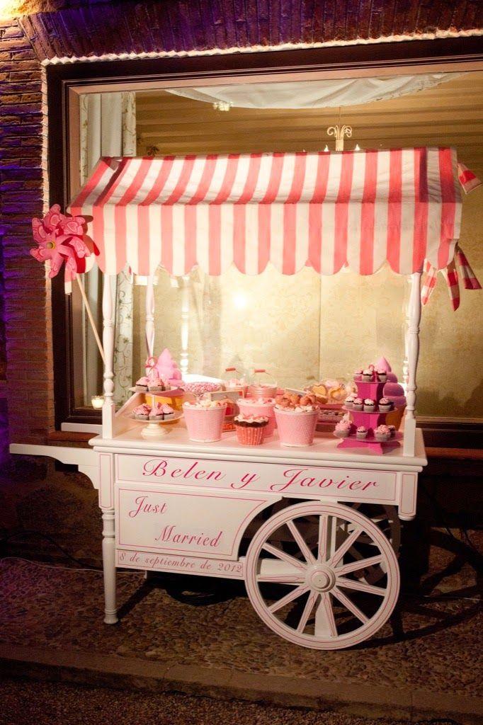 como montar la candy bar de tu boda