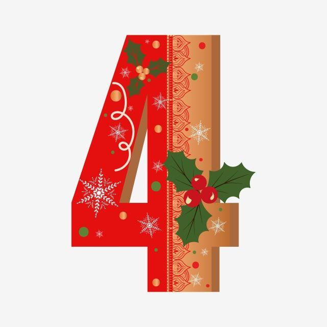 أرقام ملفات تعريف الارتباط 4 الزنجبيل مع الزهور عيد الميلاد Christmas Alphabet Christmas Labels Cute Cookies