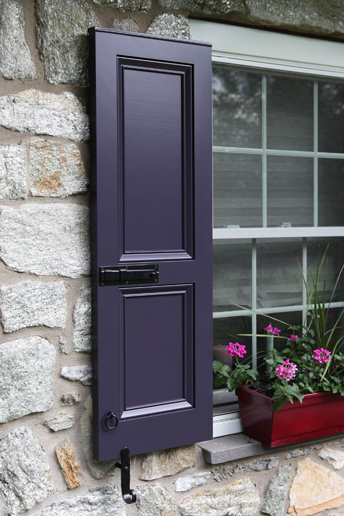 Custom Color Shutters Quest For Grey Infused Eggplant Timberlane Blog Purple Front Doors Shutters Exterior House Shutters