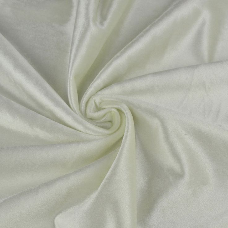 Hotham Beige and Yellow Plain Ready Made Velvet Curtains and Fabrics White Color