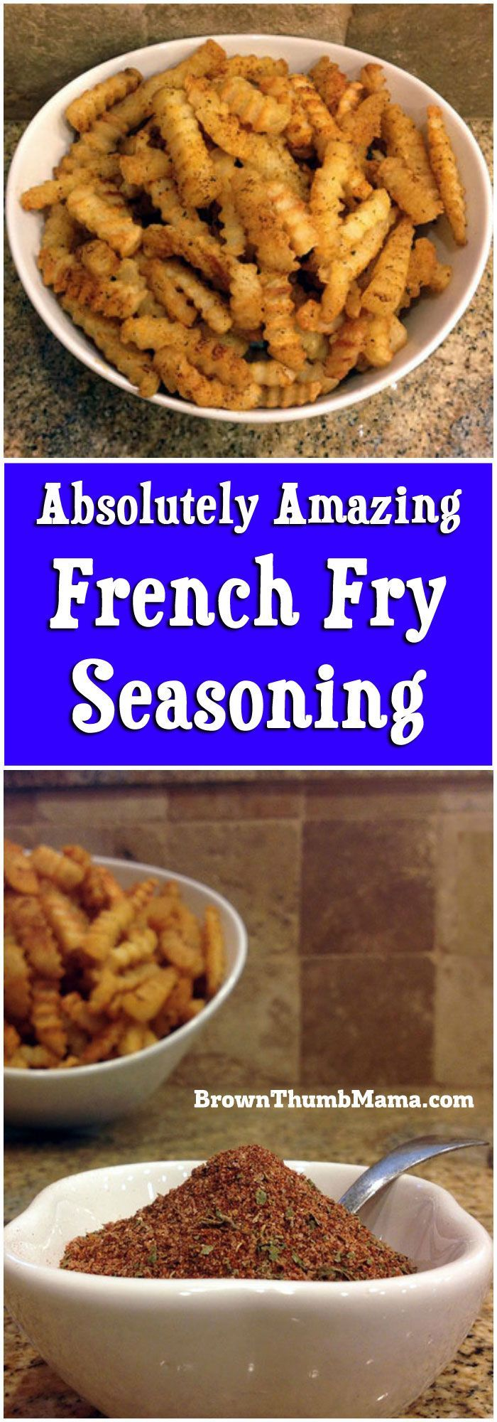 Nobody likes bland, soggy fries! Learn how to kick up the #flavor and the crunch on your #baked french fries with this amazing #seasoning blend. #frenchfries
