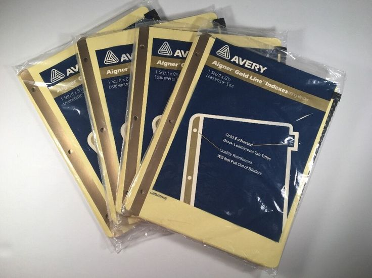 Avery 1-31 tab Gold Numbers Reinforced Preprinted Black Leather Tab 3 Ring 72782113520 | eBay