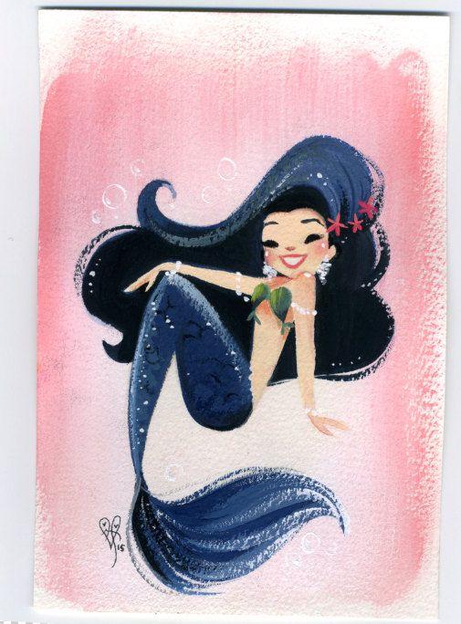 ORIGINAL mermaid painting                                                                                                                                                                                 More