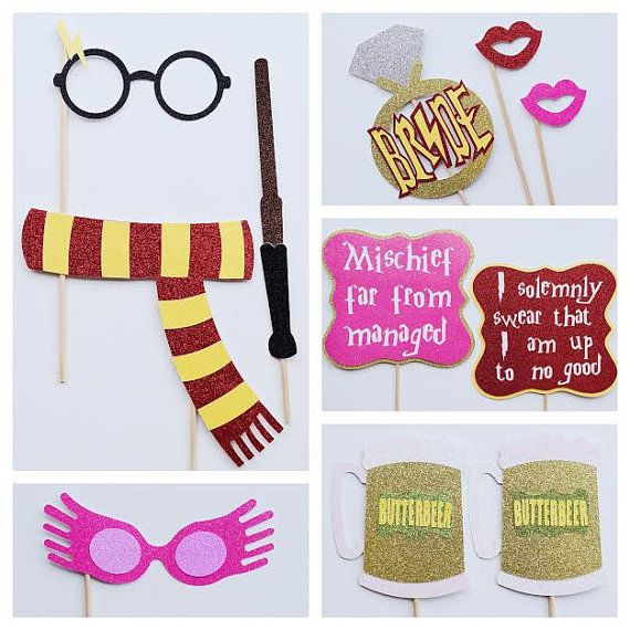 Harry Potter Bachelorette Photo Booth Props ; Harry Potter Props ; Harry Potter Wedding ; Muggle to Mrs ; Wizard Wifey ; Harry Potter Party Decor ; Butterbeer  by Lets Get Decorative
