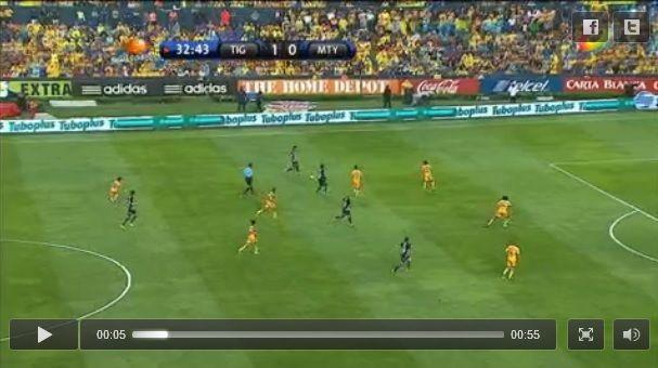 Vídeo del autogol de Tigres por parte del defensa Israel Jiménez. Partido Tigres vs Monterrey vuelta de los Cuartos de Final Liga MX Clausura 2013.