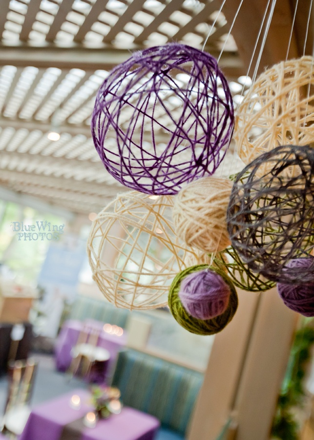 241 best hanging decor images on pinterest marriage for Ball decoration ideas