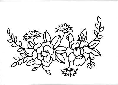 moldes de flores para pintar y borda
