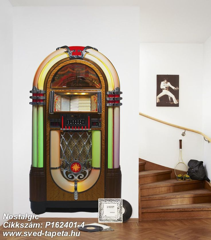 Be a DJ of your own! Mr Perswall will help you to write your favorite track in the jukebox. #decor #tapeta #foto #poster