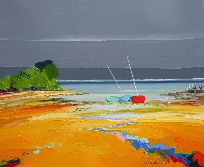 l'un contre l'autre - Painting,  60x73 cm ©2010 par Christian Eurgal -  Peinture