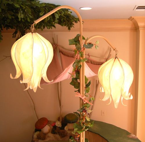 Woodland Fairy Bedroom-Flower Lamps