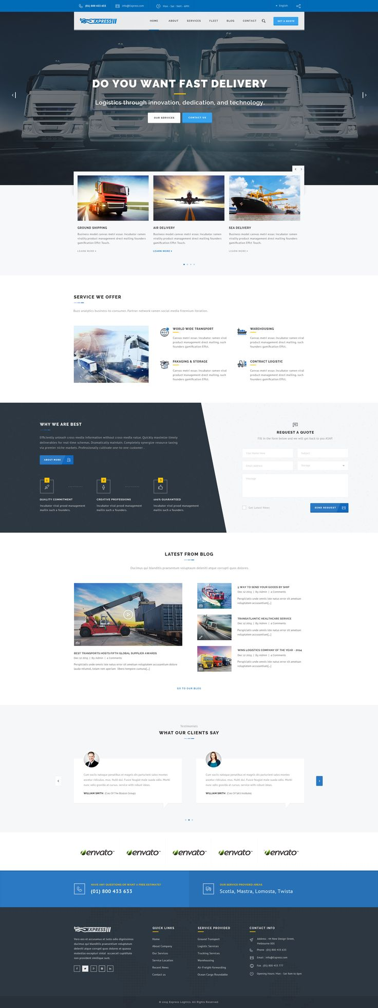 Express - Transports and Logistics PSD Template - PSD Templates | ThemeForest