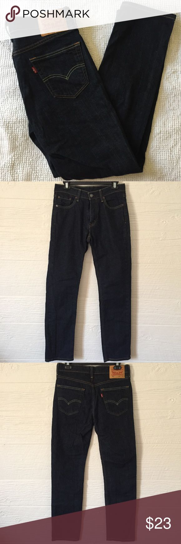 Levi Strauss & Co. 541 Straight Leg, High Waist Levi Strauss & Co. 541 Straight Leg, High Waist Jeans NWOT  30x32 Nice pair of jeans!  Dark blue and zip up. What didn't work for me will be awesome for you. Levi's Jeans Straight Leg