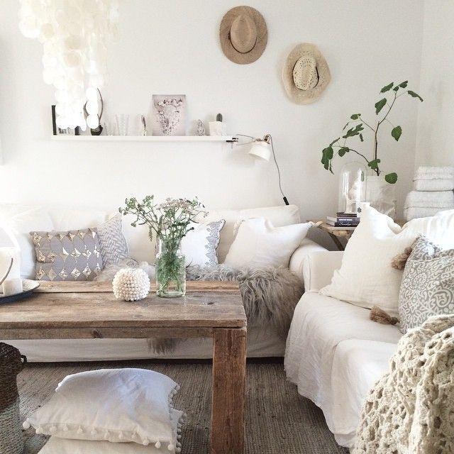 Comfortable Living Room Dimensions: Rustic Modern Wood Coffee Table