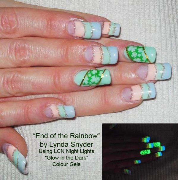 Night Light Nail 16 Best Lcn Gel Nails Glow In The Dark Nail Art Images . Night  Light Nail ...