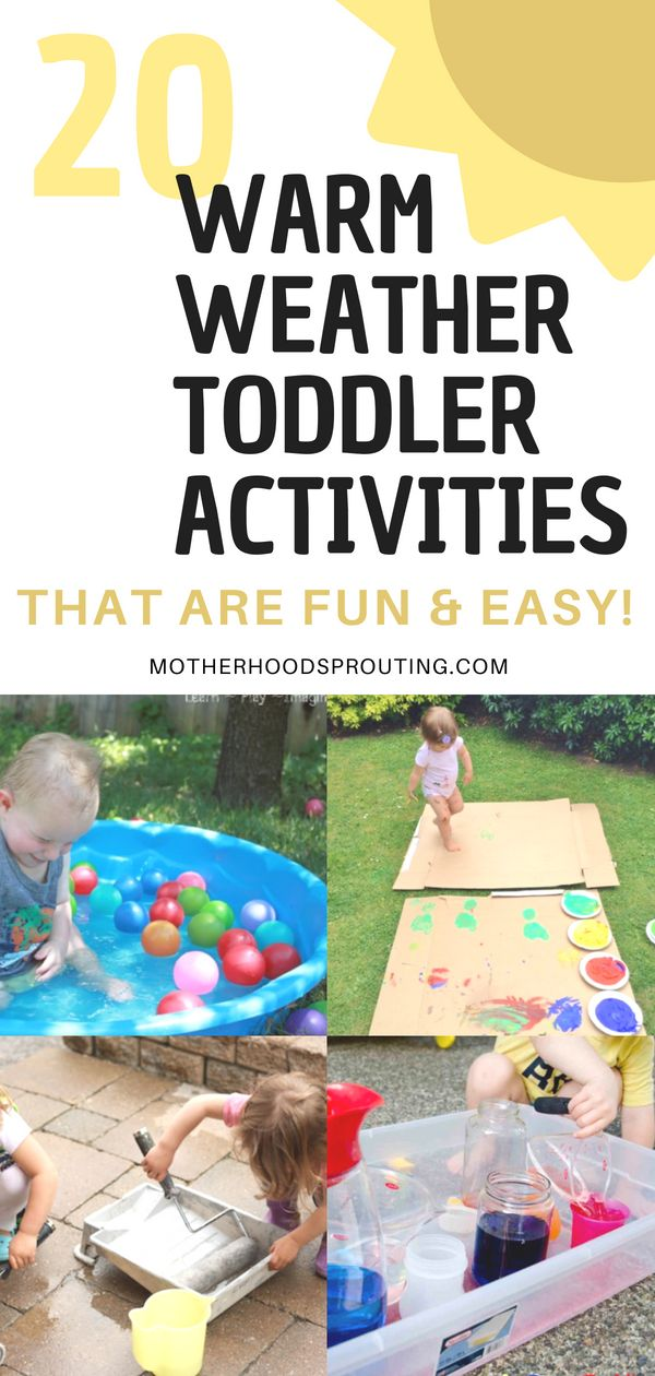These activities are all about toddlers! Try out these 20 warm weather activities for toddlers when you want to spend time outside. These summer toddl…