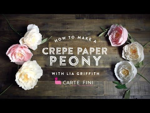 Full video tutorial on how to make DIY crepe paper peonies. Love this for weddings!
