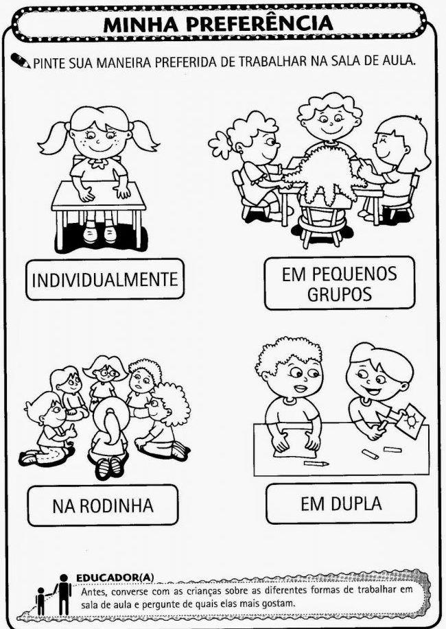 Atividades Para O Primeiro Dia De Aula Educacao Infantil Para