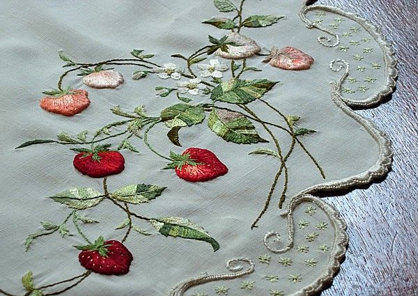 18 best strawberry fields forever images on pinterest embroidery ems heart antique linens antique society silk embroidered centerpiece fandeluxe Gallery