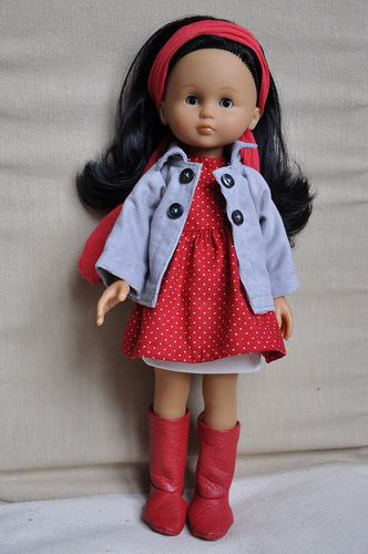 Polka dot dress and jacket for Les Cheries doll