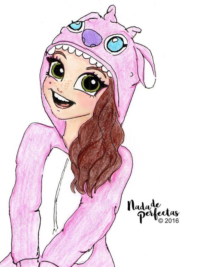@karolsevillaofc con su pijama de Ángel (El Experimento 624) de #LiloyStitch! Quería dibujar a Karol, como ella es, así que se me ocurrió dibujarla con uno de sus pijamas favoritos! Que a mi también me encanta! Los #Karolistas te amamos!...