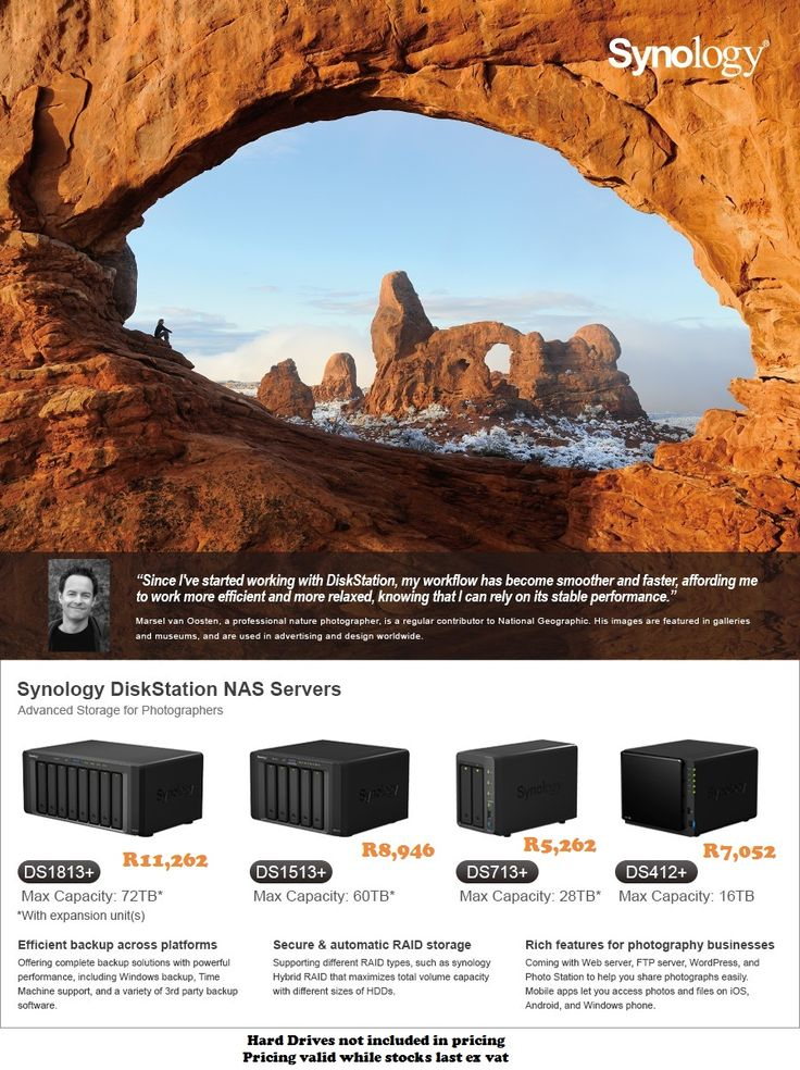 Synology's Advanced Storage Solutions. Contact laurenp@ilembetech.co.za