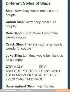 As silly as the last one is - this describes my thoughts on ships pretty well like I ship it because they'd make a good but they don't have to BE a couple you get me ?