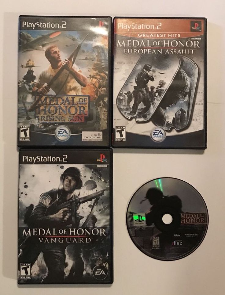 Sony PlayStation 2 PS2 Medal Of Honor Vanguard European Assault Rising Sun PLUS 83717200505 | eBay