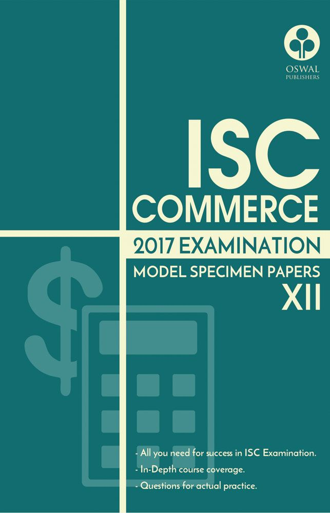 ISC Model Specimen Papers of Commerce for Class XII
